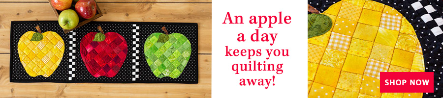 An apple a day keeps you quilting away!
