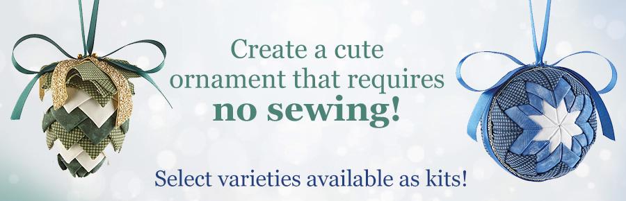 No Sew Ornaments