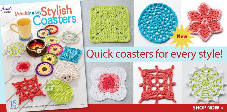 871762 Make It In A Day: Stylish Coasters Crochet Patterns