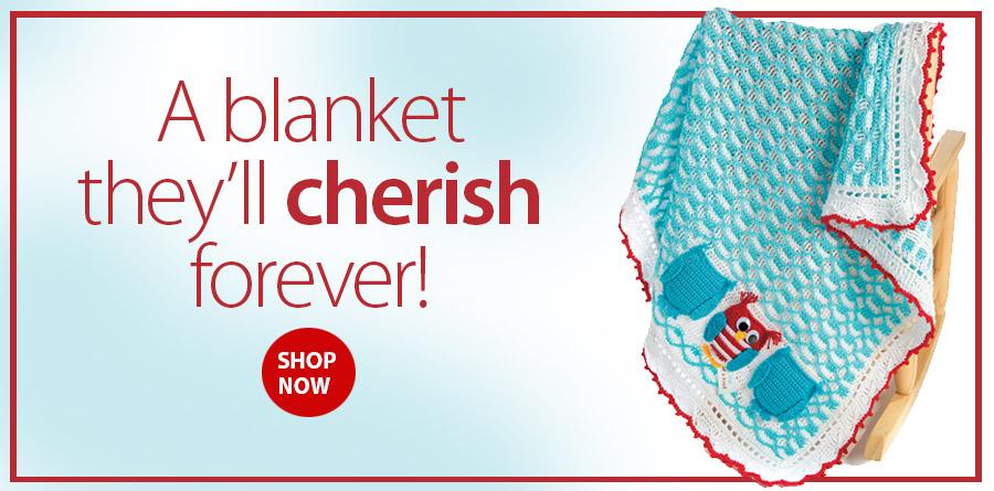 RAC2368 Ooak Baby Boy Blanket Crochet Pattern