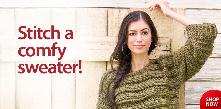 YC04950 Oversize Run-Around Sweater Crochet Pattern