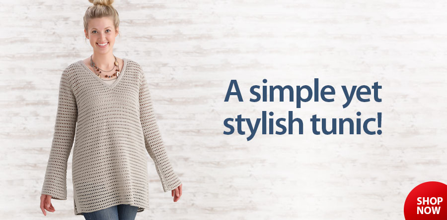 Y885365 Romantic Tunic Crochet Pattern