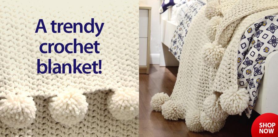 RAC2639 Aspyn Throw Crochet Pattern