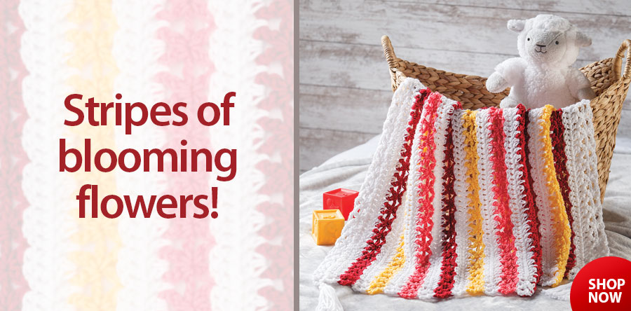AC05230 Star Flowers Baby Blanket Crochet Pattern