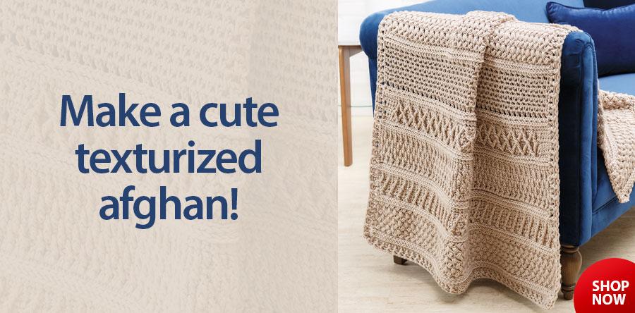 Y886713 ANNIE'S SIGNATURE DESIGNS: Irelander Gansey Crochet Afghan Pattern