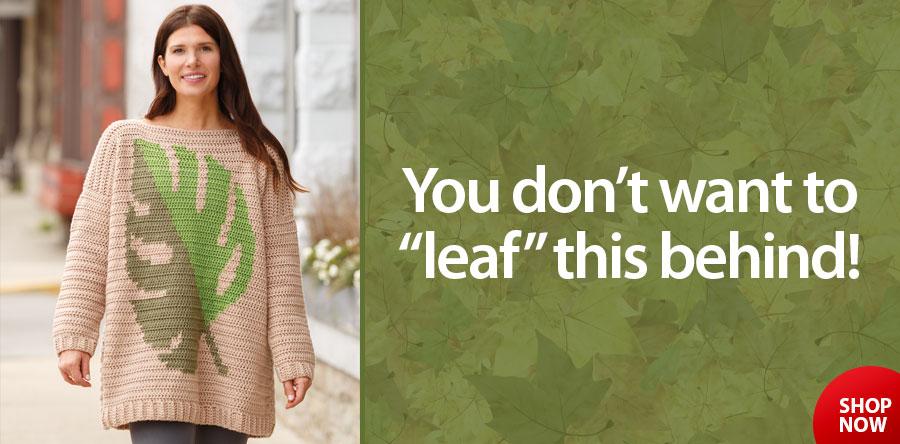 ANNIE'S SIGNATURE DESIGNS: Monstera Crochet Pullover Pattern
