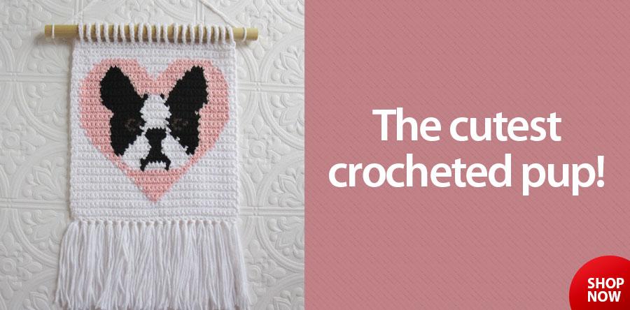 Boston Terrier Wall Hanging Crochet Pattern