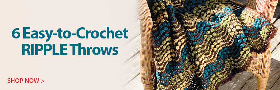 AW1441 Easy-to-Crochet Ripple Throws