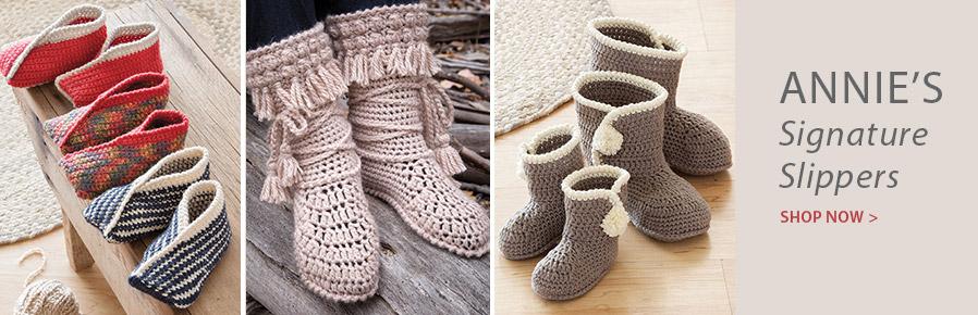AC01359 Tiptoe Crochet Slippers