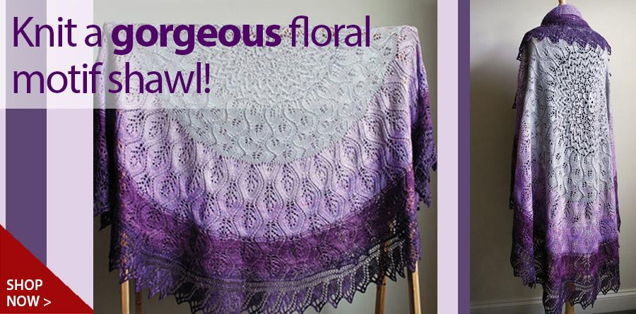 RAK1140 Zucchero Shawl Knit Pattern