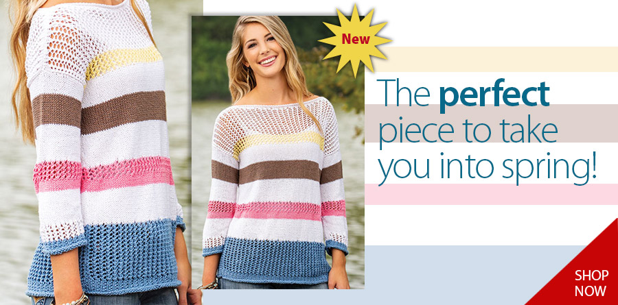 YK01271 Peacefield Pullover Knit Pattern
