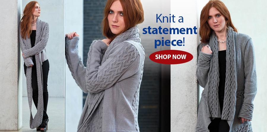 Y810391 Brewster Cardigan Knit Pattern
