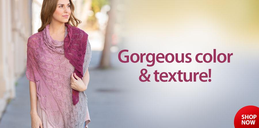 YK01345 Pristine Knit Shawl Pattern