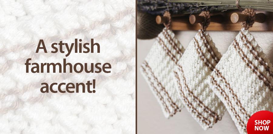 RAK1340 The Farmhouse Coasters Knit Pattern
