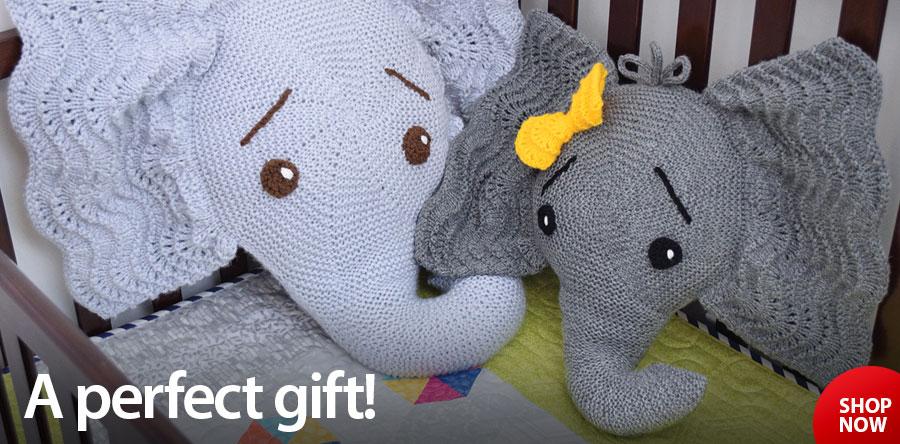 RAK1384 Josefina and Jeffery Elephant Knit Pattern