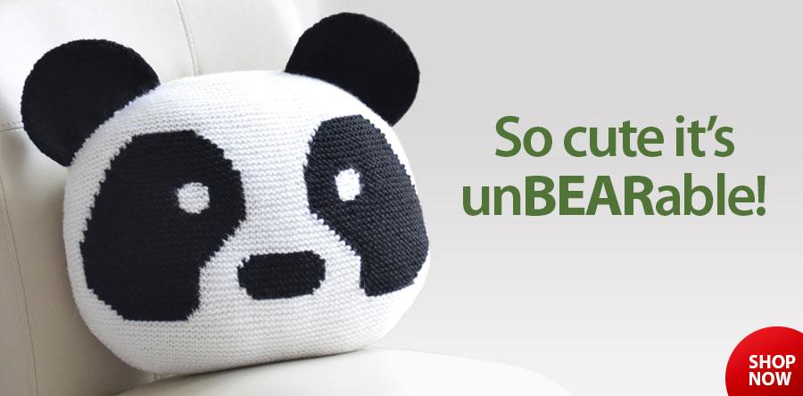 RAK1383 Amanda the Panda Pillow Knit Pattern
