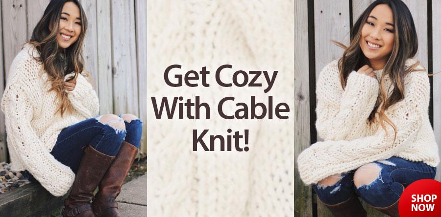 RAK1377 Cable Knit Sweater Pattern