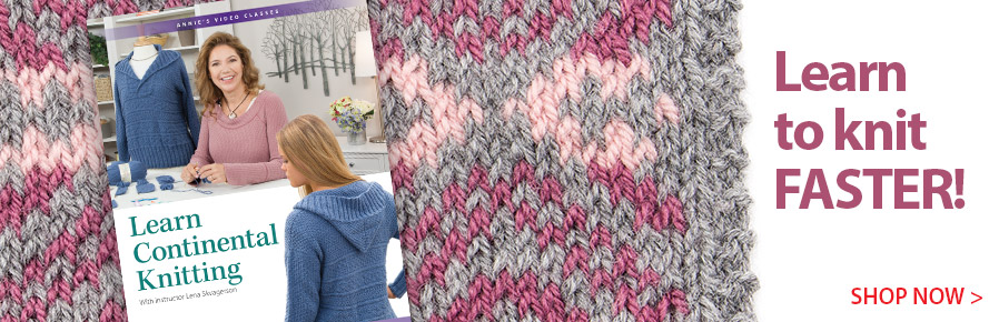 KJV04D Learn Continential Knitting Class DVD