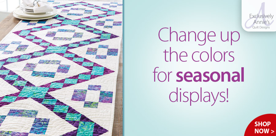 Y886380 Exclusively Annie's Quilt Designs: Batik Jewels Table Runner