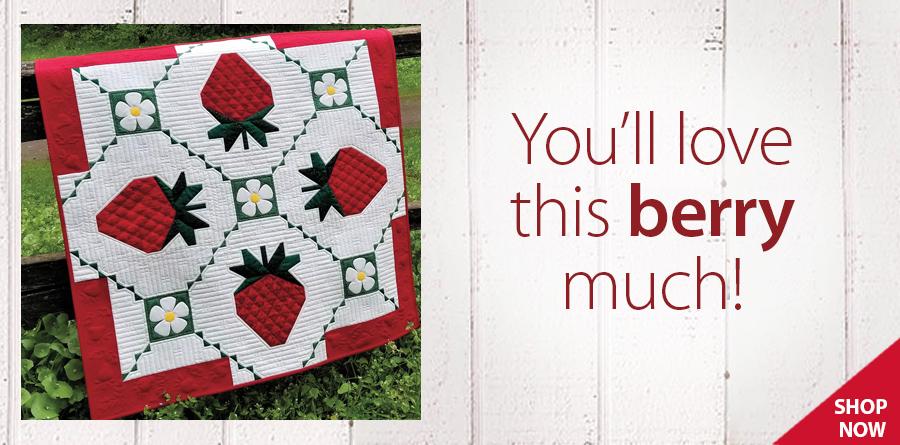 RAQ1822 Strawberry Splendor Wall Hanging Pattern