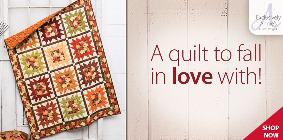 Y886436 EXCLUSIVELY ANNIE'S QUILT DESIGNS: Fall Portrait Quilt Pattern