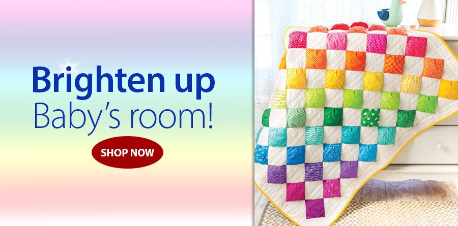 Y886489 EXCLUSIVELY ANNIE'S QUILT DESIGNS: Rainbow Puffs Quilt Pattern