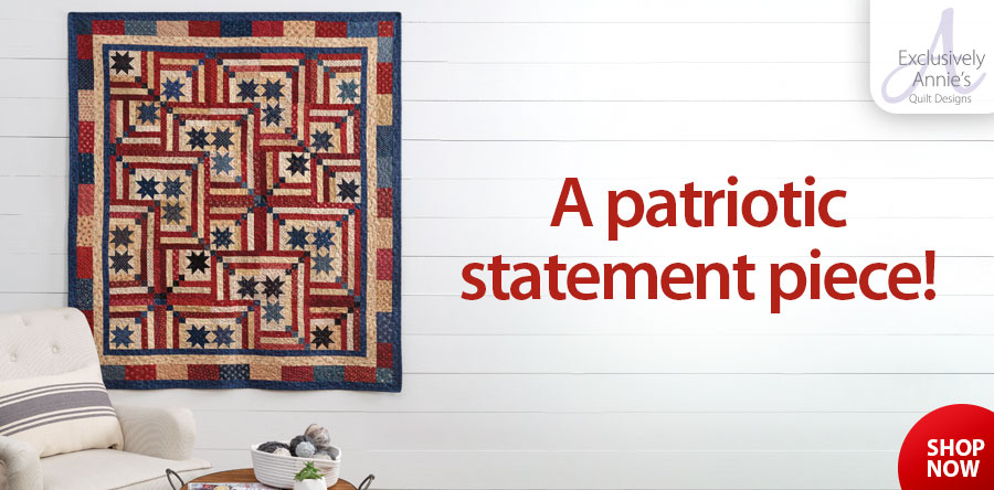 Y886530 EXCLUSIVELY ANNIE'S: Old Glory Quilt Pattern