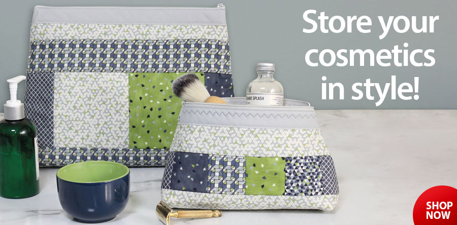 422900 Zippity Do Done Cosmetic Bags Gray
