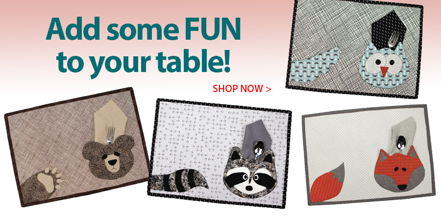 420185 Critters Placemats Pattern