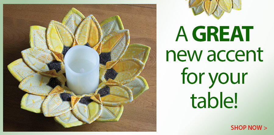 420195 Fold'n Stitch Sunflower Table Topper Pattern