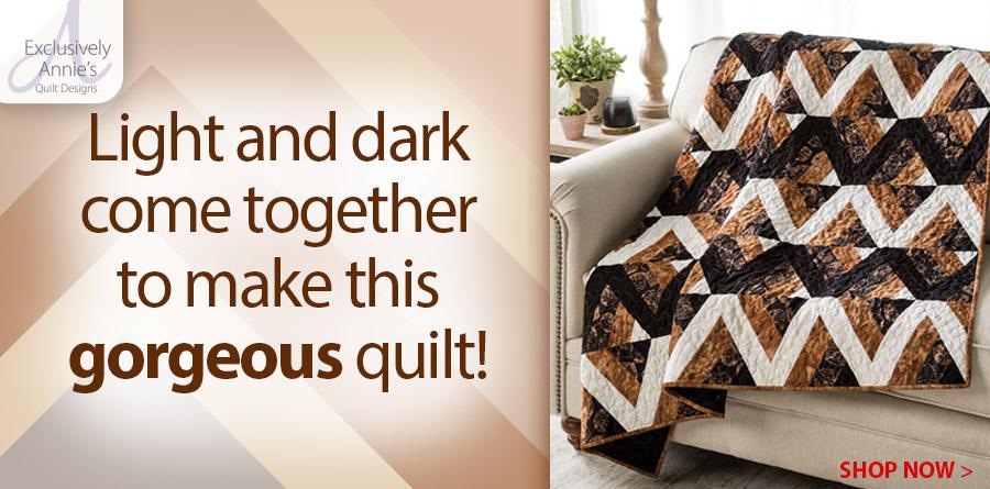 Y886270 EXCLUSIVELY ANNIE'S QUILT DESIGNS: Opposites Attract Quilt Pattern