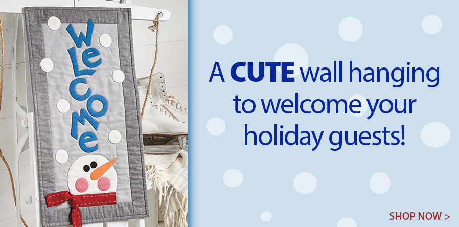 YQ01335 Winter Welcome Wall Hanging Pattern