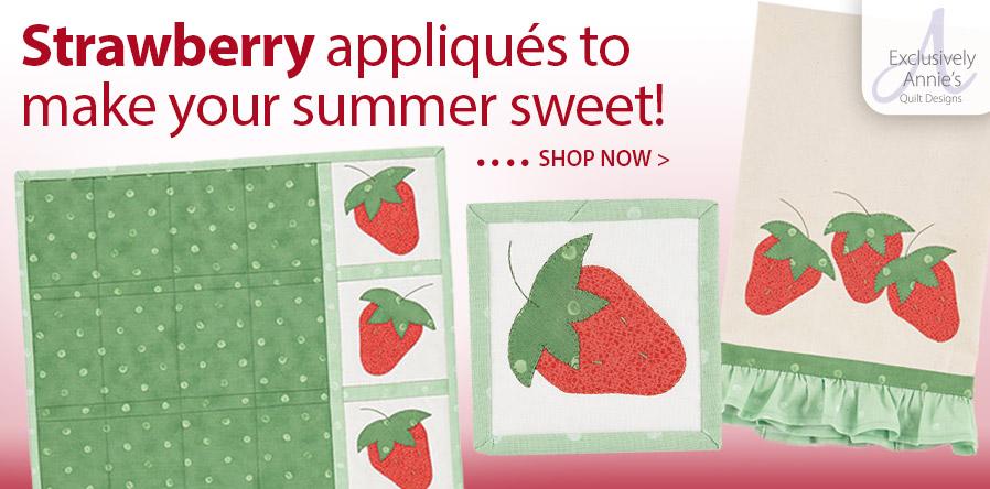 Y886321 EXCLUSIVELY ANNIES QUILT DESIGNS: Strawberry Pickin' Kitchen Set Pattern