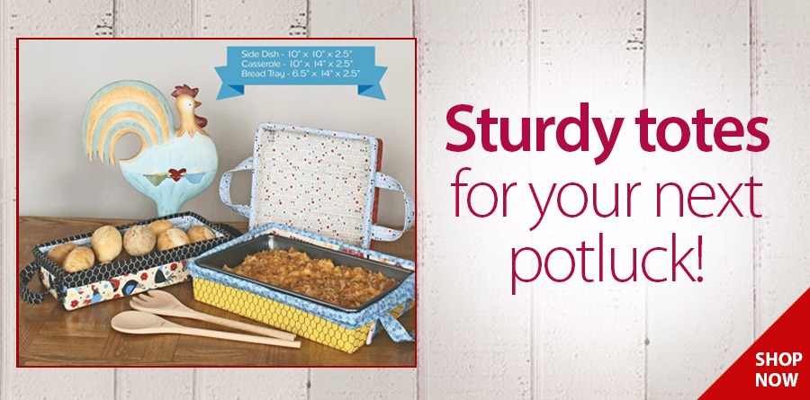 147923 Wire-Framed Potluck Totes Sewing Pattern