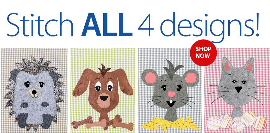 359422 Pet Friend Critters Dish Towel Sewing Pattern