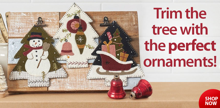 422643 3 Vintage Tree Christmas Ornament Patterns Sewing