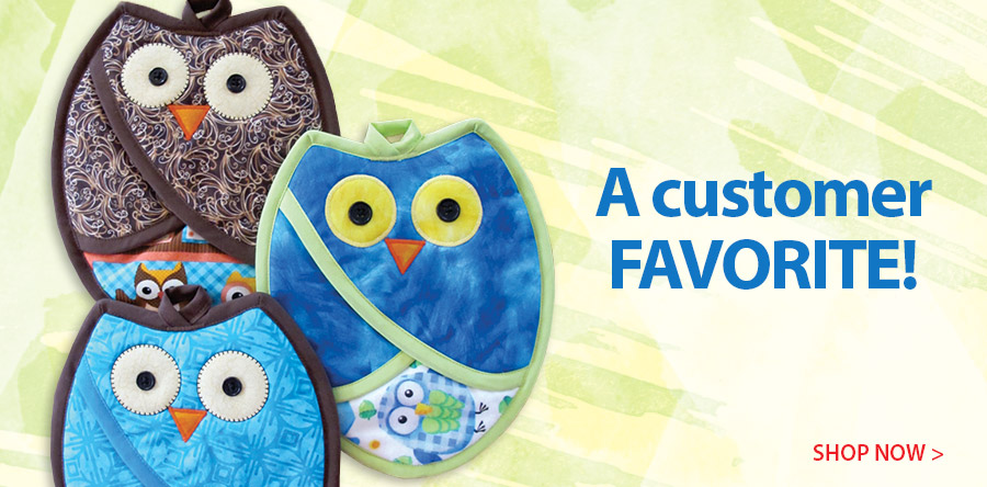 350025 Who Owl Pot Holders