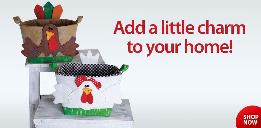 359330 Handy Baskets Chicken and Turkey Pattern