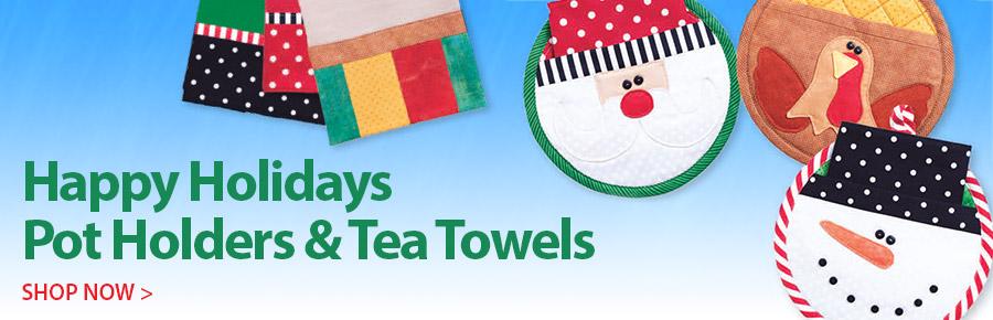 359161 Happy Holidays Potholders