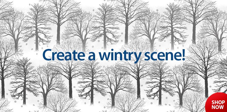 279137 Winter Trees 1 Yard Cut