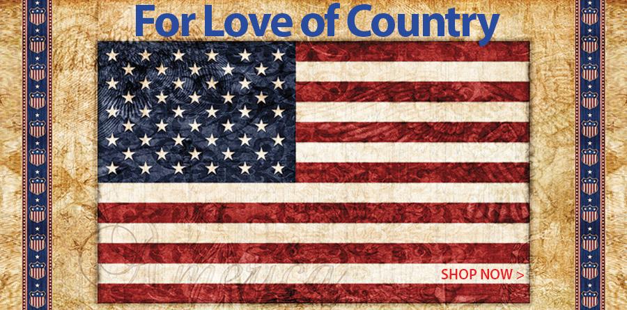 278070 Parchment American Flag Panel