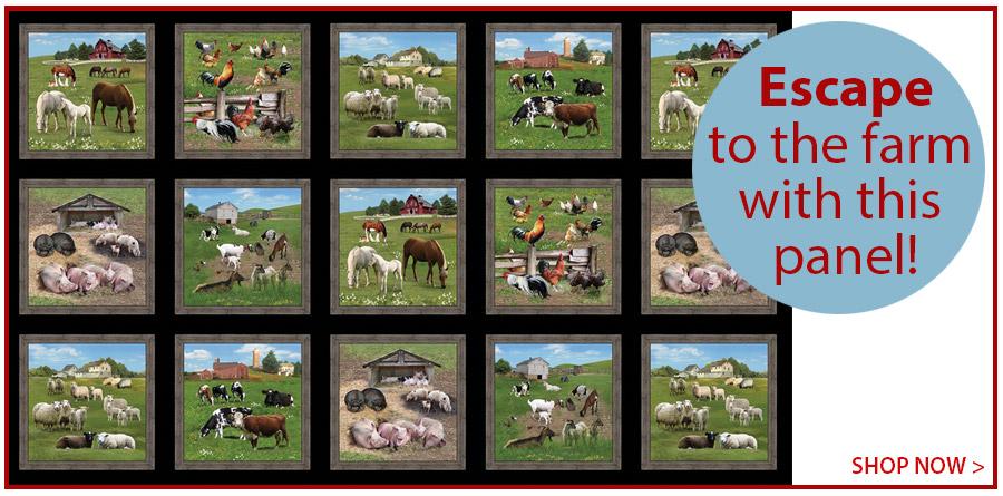 278242 Farm Animals Panel 44