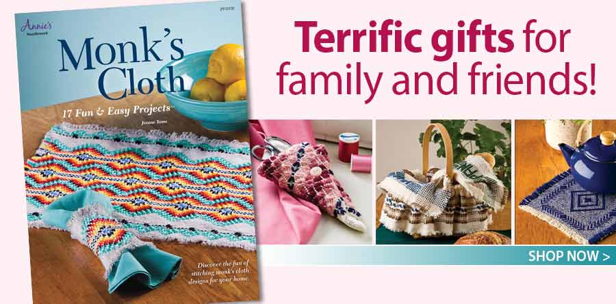 A291010 Monk's Cloth: 17 Fun & Easy Projects