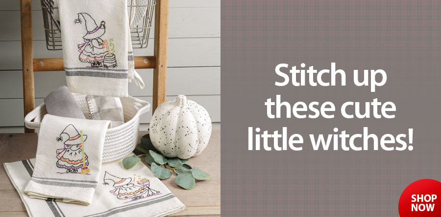422593 Lil Witches Stitcheries Embroidery Pattern