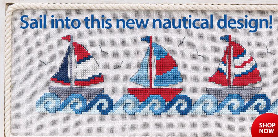 AX00631 Sailing Away Cross Stitch Pattern