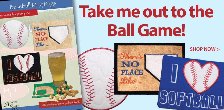 427025 Baseball Mug Rugs Pattern