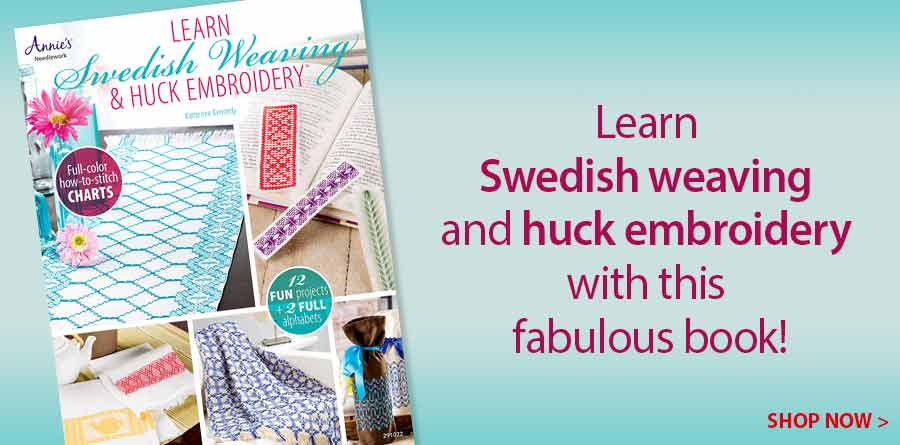 A291022 Learn Swedish Weaving & Huck Embroidery