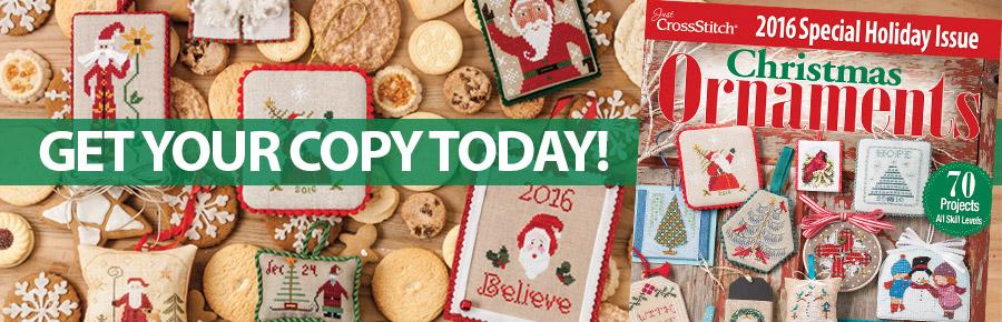 CM53369 Just CrossStitch Christmas Ornaments 2016