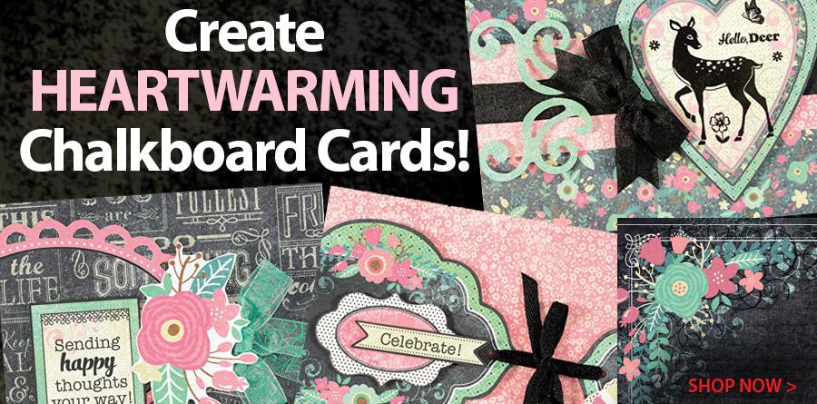709397 Emma's Chalkboard Artful Card Kit