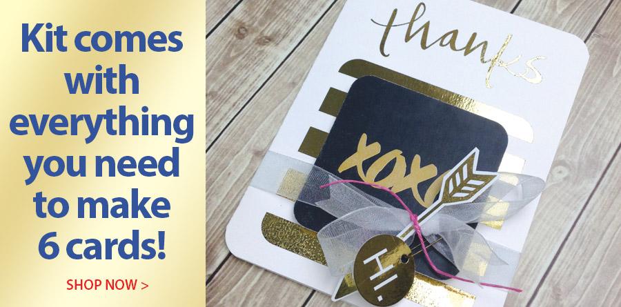 709289 Black & Gold Card Kit - 32 Pc.